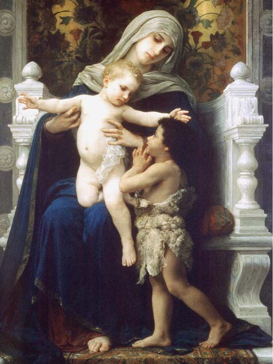 William Bouguereau Madonna and Child With Saint John The Baptist stretched canvas art print