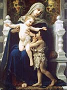 William Bouguereau Madonna and Child With Saint John The Baptist