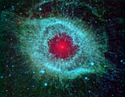 Courtesy Nasa Jpl Caltech Comets Kick Up Dust in Helix Nebula
