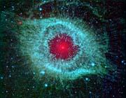 Courtesy Nasa Jpl Caltech Comets Kick Up Dust in Helix Nebula