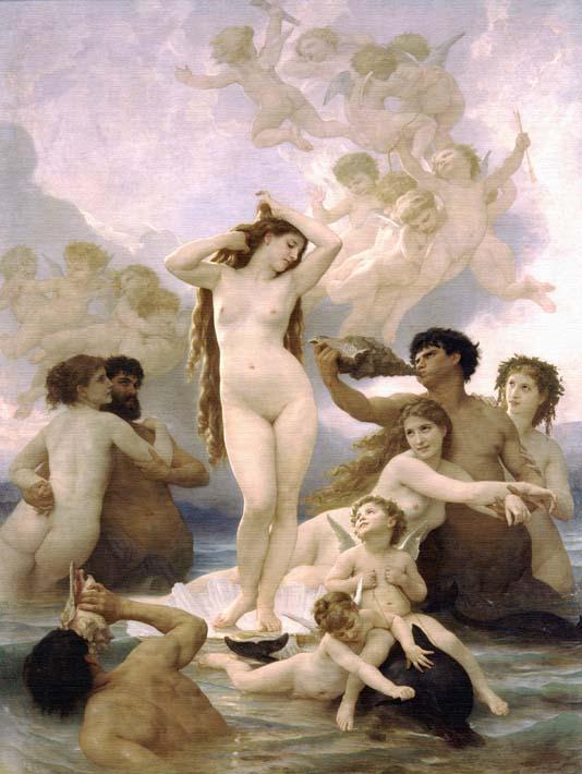 William Bouguereau The Birth of Venus stretched canvas art print