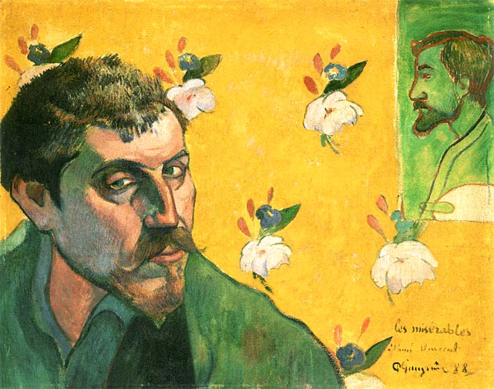 Paul Gauguin Self Portrait Dedicated to Vincent van Gogh stretched canvas art print