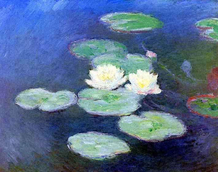 Claude Monet Nympheas, Effet du Soir stretched canvas art print