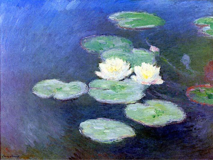 Claude Monet Nympheas, Effet du Soir (detail) stretched canvas art print