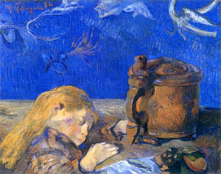 Paul Gauguin Sleeping Child stretched canvas art print