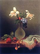 Martin Johnson Heade A Vase of Corn Lilies and Heliotrope