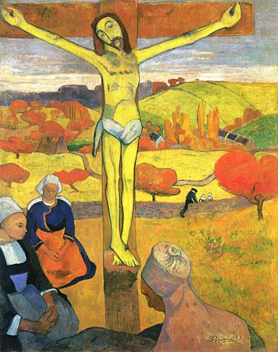 Paul Gauguin Yellow Christ stretched canvas art print