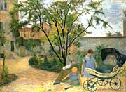 Paul Gauguin The Artists Family In The Garden Of Rue Carcel canvas prints