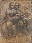 Leonardo Da Vinci The Virgin and Child with Saint Anne and Saint John the Baptist
