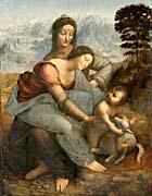 Leonardo Da Vinci The Virgin and Child with Saint Anne