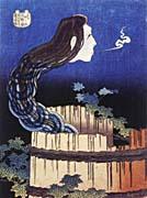 Katsushika Hokusai Okiku, The Plate Specter