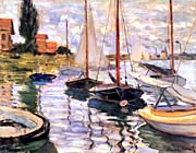 Claude Monet Sailboats on the Seine