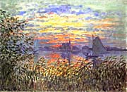 Claude Monet Argenteuil Basin at Sunset