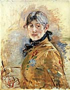 Berthe Morisot Self Portrait by Berthe Morisot