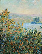 Claude Monet Flower Beds at Vetheuil