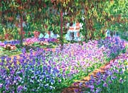 Claude Monet The Artists Garden At Giverny Detail canvas prints