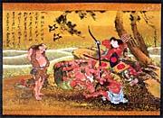 Katsushika Hokusai Tametomo and the Demons at Onigashima