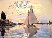 Claude Monet Sailboat at Petit-Gennevilliers