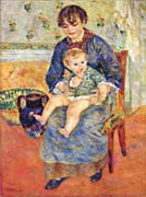 Pierre Auguste Renoir Mother And Child In A Chair canvas prints