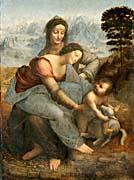 Leonardo Da Vinci The Virgin and Child with St. Anne