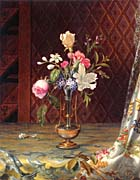 Martin Johnson Heade Vase of Mixed Flowers