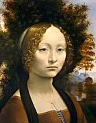 Leonardo Da Vinci Portrait of Ginevra de