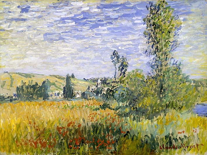 Claude Monet Vetheuil stretched canvas art print