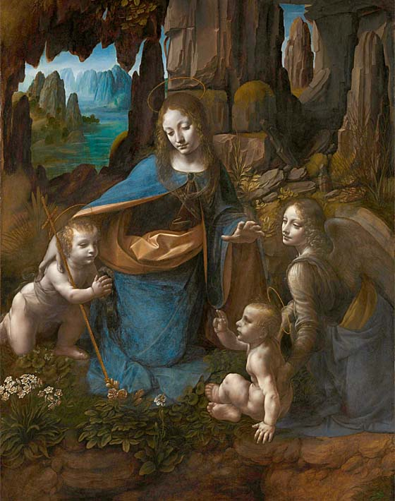 Leonardo Da Vinci Virgin of the Rocks stretched canvas art print