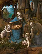 Leonardo Da Vinci Virgin Of The Rocks canvas prints