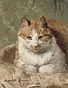 Henriette Ronner Knip Carefree Cat