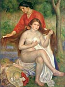 Pierre Auguste Renoir Bather and Maid