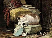 Henriette Ronner Knip A New Place to Hide