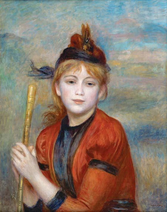 Pierre Auguste Renoir The Rambler stretched canvas art print
