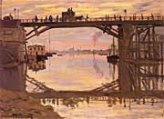 Claude Monet The Highway Bridge Under Repair, Argenteuil