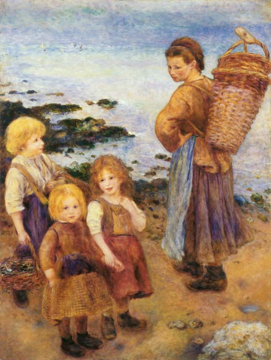 Pierre Auguste Renoir Mussel Fishers at Berneval stretched canvas art print