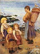 Pierre Auguste Renoir Mussel Fishers at Berneval