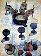 Paul Gauguin Still Life with Three Puppies (detail)