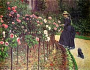 Gustave Caillebotte Roses, Garden at Petit Gennevilliers