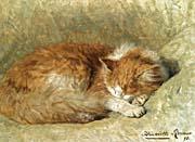 Henriette Ronner Knip A Sleeping Cat