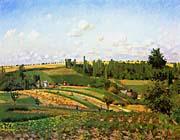 Camille Pissarro Harvest Landscape at Pontoise