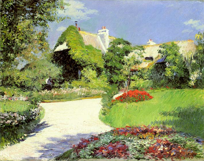 Gustave Caillebotte Thatched Cottage at Trouville stretched canvas art print