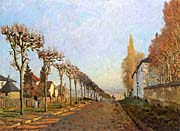 Alfred Sisley View of Sevres Path, Louveciennes