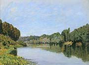 Alfred Sisley The Seine River at Bougival