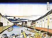 Katsushika Hokusai Mount Fuji and Edo Castle seen from Nihonbashi