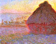 Claude Monet The Grainstack, Sunset