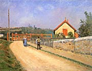 Camille Pissarro Railway Crossing At Patis Near Pontoise canvas prints