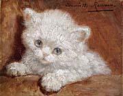 Henriette Ronner Knip A White Kitten