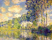 Claude Monet Poplars on the Banks of the Epte River (landscape detail)