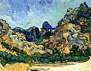 Vincent Van Gogh Mountains at Saint Remy