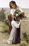 William Bouguereau Girls At the Fountain